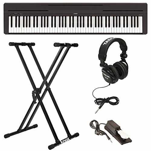 Yamaha P45B Digital Piano with Knox Double X Keyboard Stand